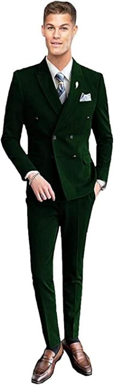 Double Breasted Men Suits Slim Fit Blazer Wedding Grooms Tuxedo
