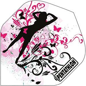 STRONG Pentathlon Girl Flights - Verschiedene Ausführungen, 3 Stück (Girl)
