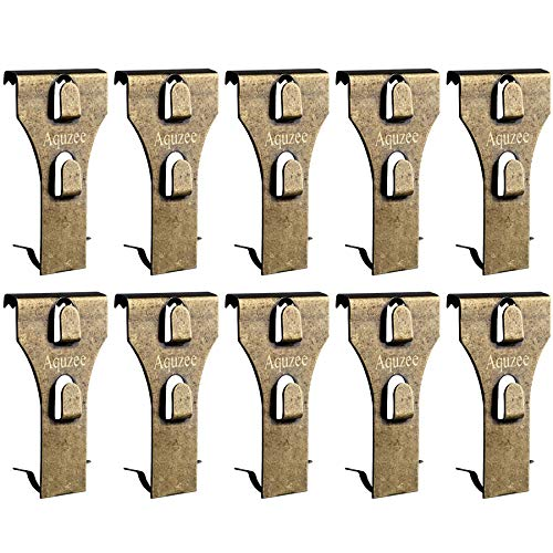 Metal Brick Hooks Clips, 10 Pack Bulk Brick Wall Hooks Hanger for Garland Lights Pictures Hanging - Fits Brick 2-1/4 to 2-3/8 inch in Height