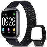 BANLVS Smartwatch Reloj Inteligente IP67 con Correa Reemplazable Pulsómetro, Monitor de Sueño, Presión Arterial, 1.4 Inch Pantalla Táctil Completa Reloj Inteligente para Mujer Hombre