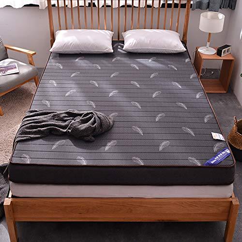 ZZPP Japonés Piso Colchón Futon,Tatami Alfombra Colchón De Camping,Sleeping Pad Plegable Roll Up Piso Lounger Couch Cama con Protector De Colchón-E King:180x200cm