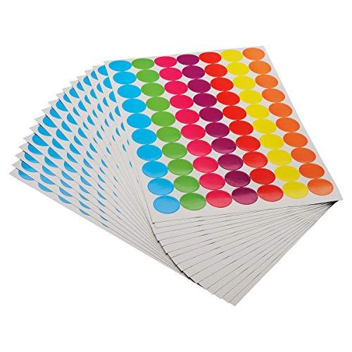 ONUPGO 1120 runde Punkte Aufkleber Durchmesser rund Farbkodierung Kreise Punkte Aufkleber bunt codierende Etiketten verschiedene Farben