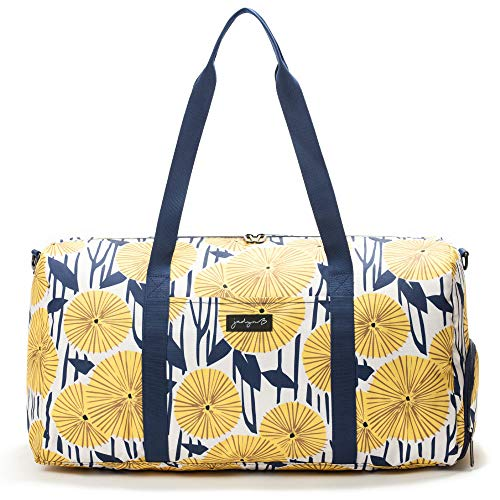 Jadyn B Weekender Bag - 56 cm./ 52L - Bolsa de Lona con Bolsillo para Zapatos (Yellow Flowers)