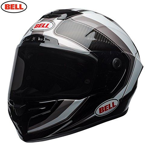 Bell - Casco integrale da moto Race Star, modello 2018, colore: bianco/titanio