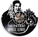 El Paciente vivirá en el Hospital, Oferta médica, Arte de Pared, clínica, decoración de Pared Oficial, Reloj de Pared médico, Reloj de Vinilo de Enfermera Vintage, sin LED