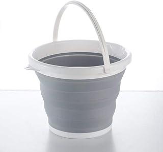 Seau multifonctionnel peu encombrant Seau pliant portable de 10 litres pour lave-auto / fournitures d'outils de camping / ...