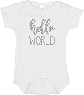 SARBIEN Designs Hello World Newborn Outfit, Hello World Baby, Hello World Newborn