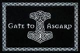 Gate To Asgard Fussmatte Wikinger Fußmatte Black Edition Schmutzmatte Türabstreifer Türmatte Odin...
