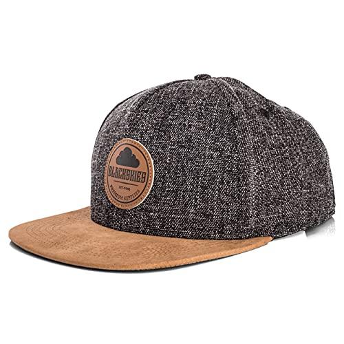 Blackskies Pathfinder Snapback Cap | Schirm Unisex Premium Baseball Mütze Kappe Basecap Verstellbar One Size - Schwarz Melliert Beige