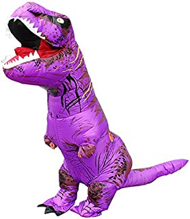 T-Rex Costume Adult Inflatable Dinosaur Halloween Cosplay 4.9-6.2 Feet Waterproof Polyester Fancy Dinosaur Dress