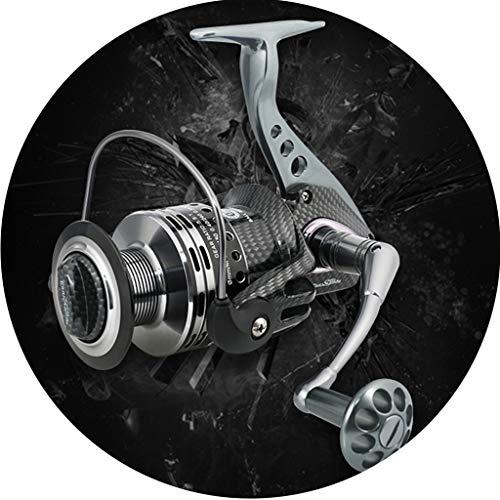 Spinning-Rollen Shimano Spinnrolle Links Und Rechts Austauschbare CNC-Wippe Doppellagersystem Balance Drahtschale Edelstahl Metalllager (Color : Black, Size : 3000)
