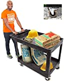 Stand Steady Original Tubstr XL Outdoor Cart with Heavy Duty Wheels   Two Shelf Utility Cart Supports up to 500 lbs! Tub Carts with Deep Shelves and Shock Absorbent Wheels (45.5' x 24.5')
