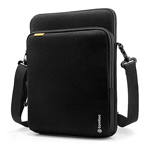 tomtoc 360 Protection Tablet Shoulder Bag Designed for 11 inch iPad Pro, 10.5 inch New iPad Air 2019, 10.5 iPad Pro, Microsoft Surface Go, with Handle and Organized Pocket for Tablet Accessories
