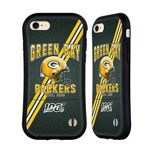 Head Case Designs Offizielle NFL Football Streifen 100ste 2019/20 Green Bay Packers Hybride Huelle kompatibel mit Apple iPhone 7 / iPhone 8 / iPhone SE 2020