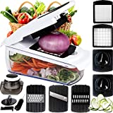 7 in 1 Vegetable and Onion Choppers, Mandolin Slicer and Food Dicer. Multifunctional