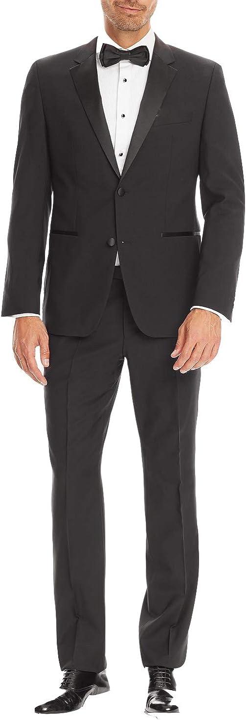 Bolzano Men's Classic Fit Two-Piece Notch Lapel Tuxedo Suit Set