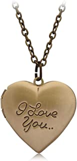 BGTKD Necklace Bronze Silver Memories Chain Letter Carved Pendant Necklace