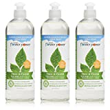 Natural Flower Power - Natural Dish Soap, Free & Clear, Unscented,...