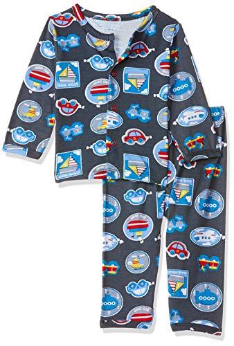 Mom's Love Baby Boy's Regular fit Sleepsuit (MLS20025BXXNTW_Grey_9-12 Months)