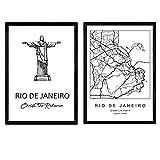 Nacnic Pack Poster Rio de Janeiro - Christus der Erlöser.