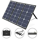 VITCOCO Solar Ladegerät 63W Solarpanel Tragbares 3-USB Ports & 1 DC Port für Powerstation Kamera Outdoor Solarladegeräte Wasserdicht faltbar Camping Reisen