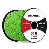 Brotree - Cuerda de paracaídas de Nailon de 3 mm con 3 Cuerdas, Cuerda de...