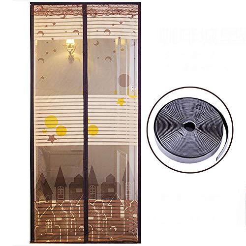 Magnetische Fliegengittertür Moskitonetz Magnetgittertür mit magischem Klebeband Ultra Seal Mesh Curtain-A 130x210cm/51x82.6inch