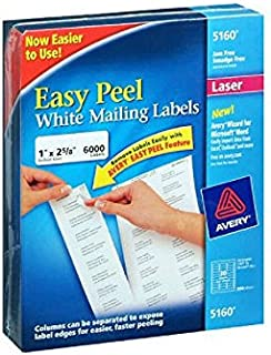 Avery Easy Peel Address Labels, Laser, 1
