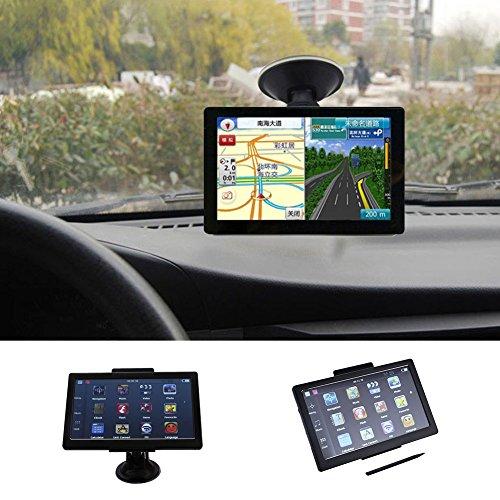LESHP Navigatore GPS Per Auto 128 MB di RAM e 4GB di ROM Mappe a Vita FM//Video//MP3//E-book Display da 5