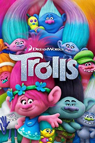 XIANGJING Puzzle 1000 Piezas Adultos Carteles de películas de Trolls Grande Educativo El Alivio del Estrés Juguete Relajante Juego Divertido para Niños