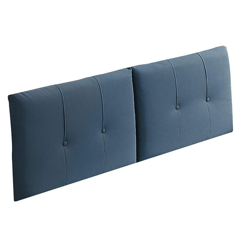 前者寸前ドローWZBベッドサイドクッションソフトスポンジフィリングダブルウォッシャブルベッドルーム、4色、18サイズ(色:青、サイズ:165??x60x10cm)