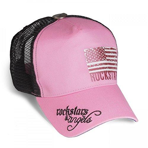 Rockstars & Angels - Gorra de béisbol - para hombre rosa rosa talla única
