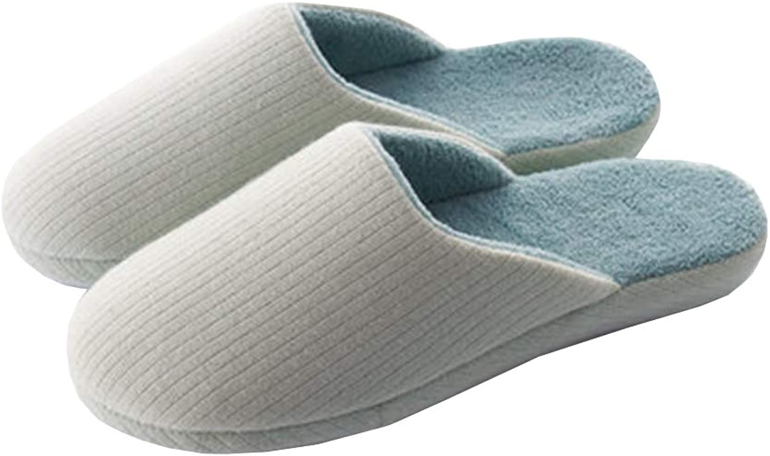 Women's and Men's Unisex Slippers Striped Knitting Warm Coral Fleece Anti Skid Indoor Outdoor Slip-On House shoes