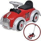 vidaXL Retro Rutschauto Kinderauto Lauflernwagen Kinderfahrzeug Rutscher Rot