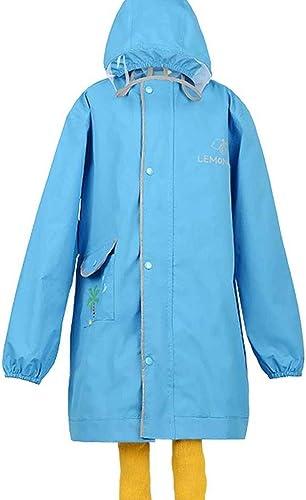 Duanguomei Imperméable- Sac pour Homme épaississant avec imperméable pour Enfants avec siège et Manteau de Poncho (Couleur   bleu, Taille   S)
