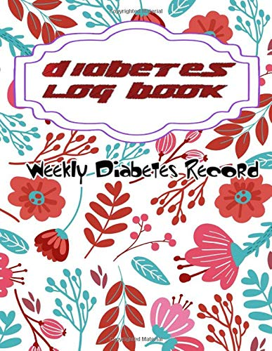 Dietetic Log For Diabetics: Week Diabetic Glucose Log Book Pink Cover Diabetic Journal  Size 8.5x11 Inch ~ Those - Small # Cute ~ Glossy Cover Design White Paper Sheet 100 Pages Standard Prints.