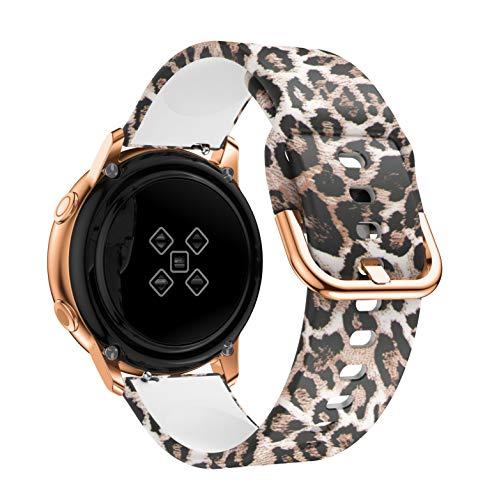 GZMYDF Correa de Reloj de 20 mm para Samsung Galaxy Active 2 3 41mm 42mm 40mm 44mm para Huawei Watch GT 2 42mm para Amazfit GTS 2 (Band Color : Classic Leopard, Size : Galxy Watch 42mm)