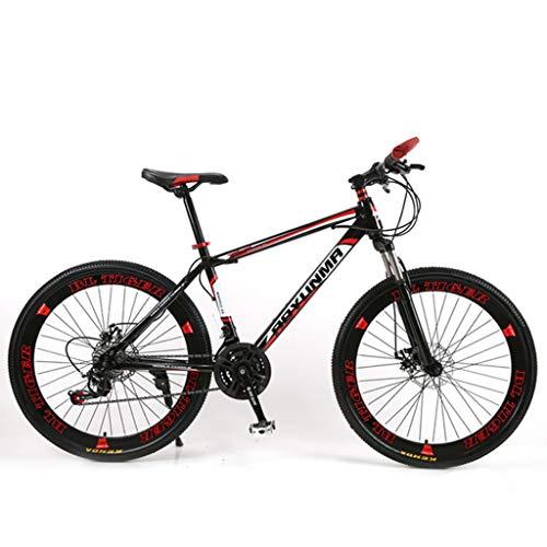 Bicicleta de montaña Mountainbike Bicicleta Bicicleta de montaña, bicicletas de marco de acero al carbono, doble freno de disco delantero y Tenedor, de 26 pulgadas de radios de la rueda MTB Bicicleta