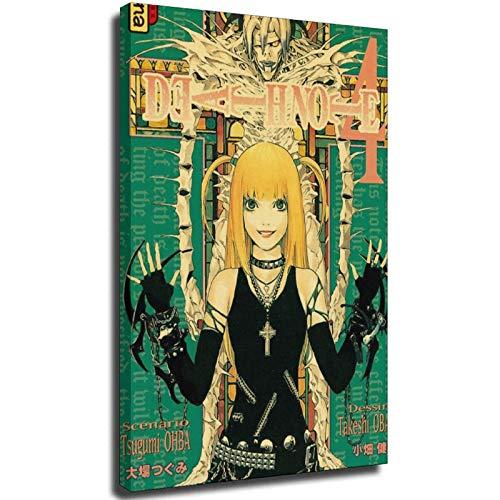 sayup Classic Anime Series Death Note Posters Retro Poster Bar Room Decoración Pintura Arte Pared Pegatina Marco-estilo1 70 × 100 cm