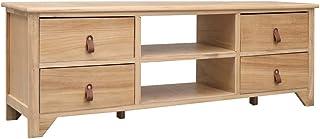 UnfadeMemory Mueble para TV Moderno con 4 Cajones y 2 Compartimentos AbiertosMesa para TVArmario Hi-FiArmario BajoApar...