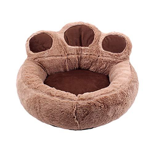 ITODA - Cama para perro pequeño o gato, con forma de pata de oso, cama, cojín para sofá, perro, gato, de peluche cálido, cómodo, lavable, para mascotas, compañías transpirables, regalo de Navidad
