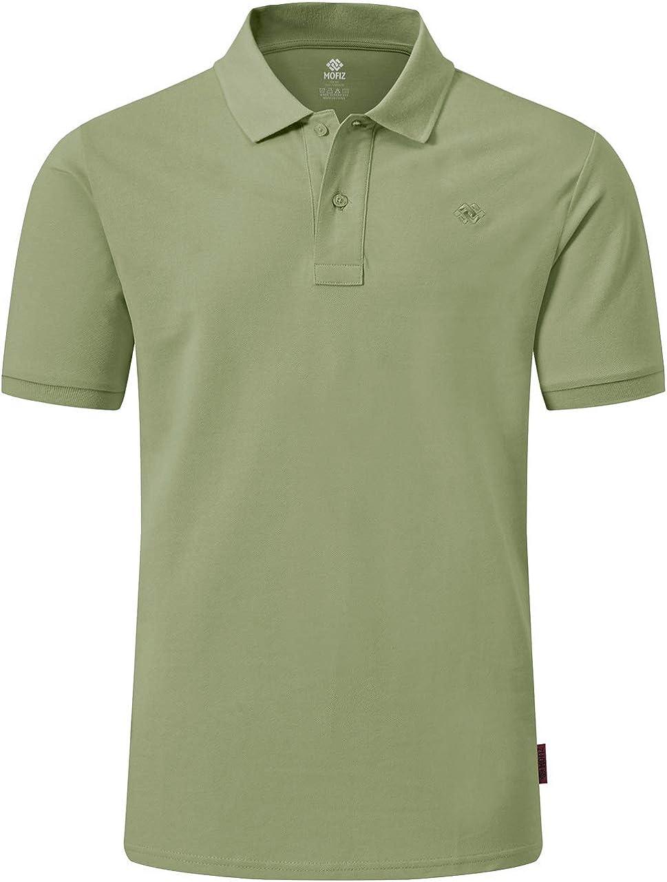 MoFiz Men's famous Golf Shirts Short NEW before selling Sleeve 100% Athletic Cotton