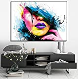 RTCKF Flower Girl Painting Wall Art Canvas Posters and Prints Wall decoración del hogar Accesorios decoración de la Sala decoración Moderna decoración del hogar Pared A2 40x50cm