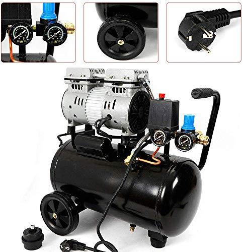 Relaxbx Compresor de Aire de 24 L Compresor de Aire comprimido sin Aceite de 750 W, 8 Bar, Compresor de Aire comprimido de 1400 U/m, Compresor de Aire sin Aceite de 60 L/min DHL