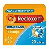 Redoxon Granulado, Complejo Vitamínico para Reforzar las Defensas, Formato Cómodo, Vitamina C y Zinc, Sabor Naranja, 20 Sobres 59 g