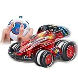 LINXIANG Coche teledirigido, coches acrobáticos RC, coche acrobático 4WD con batería recargable, coche radiocontrolado giratorio de 360 grados, juguete de carreras controlado por radio de 2,4 GHz, r
