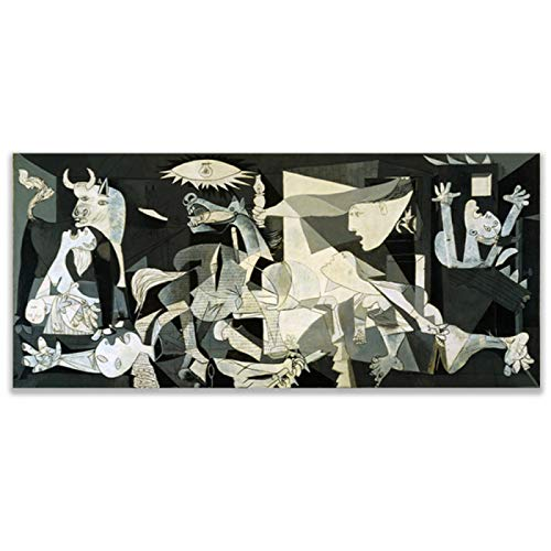 Guernica Famous Canvas Painting Print On Canvas Artwork By Picasso Replica Wall Picture For Bedroom Living Room Home Decor