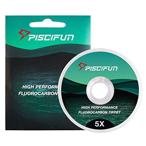 Punta Piscifun para pesca con mosca de fluorocarbono, baja visibilidad, resistencia superior a la abrasión, 30 m (tamaño: 0x, 1x, 2x, 3x, 4x, 5x y 6x)., 0x-12.5lb-33yd