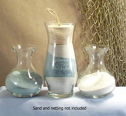 Unity sand ceremony set - Sonora style with Sweetheart side vases