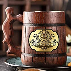 Image: Dungeon Master Beer Mug. Dungeon and Dragons Mug. Dungeon Master Personalized Mug. D+D Gift. Personalized Beer Stein. Best Gift. Wooden Beer Mug. Personalized Gamer Gift Beer Tankard K144
